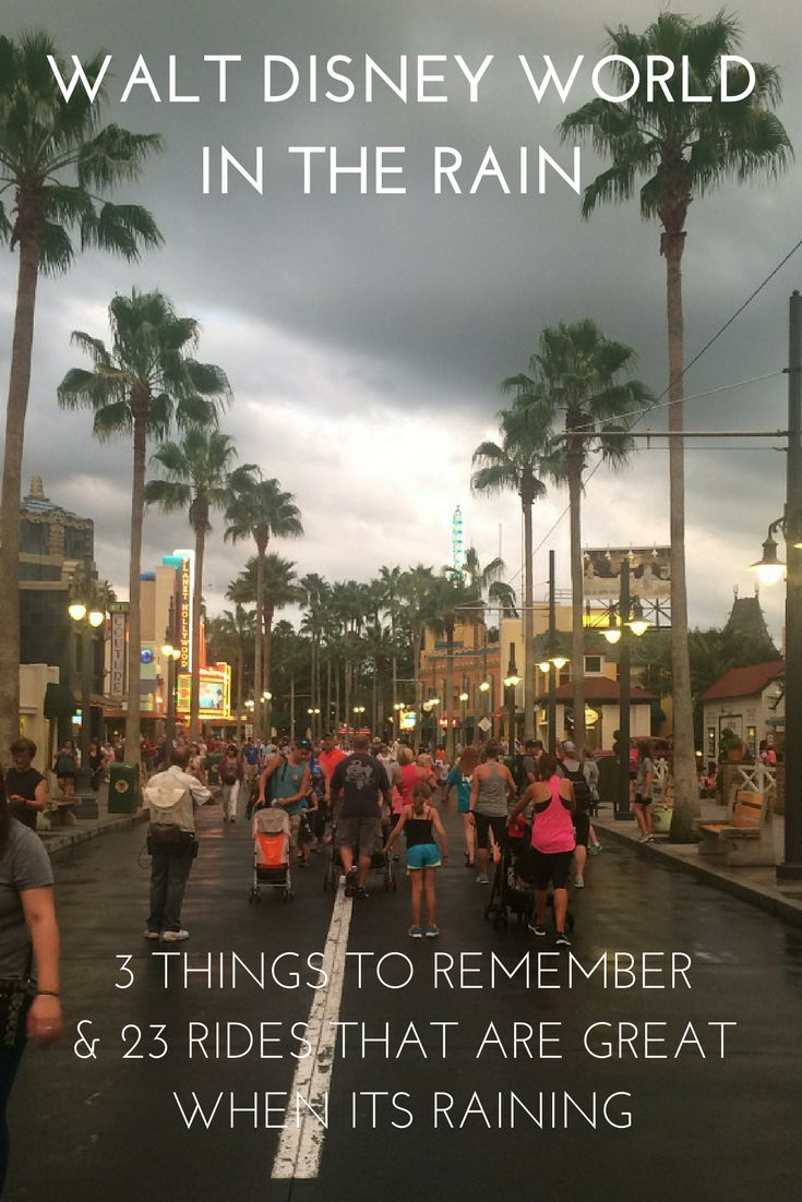 Don't let the rain spoil your Disney Vacation. 25 Tips to help you have fun during rainy season.