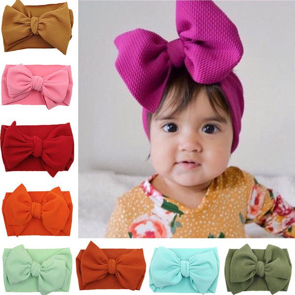 coral  hair accessory for children babies pink red Kids Stretch Headwrap with Flower  Elastic headband with flower  White