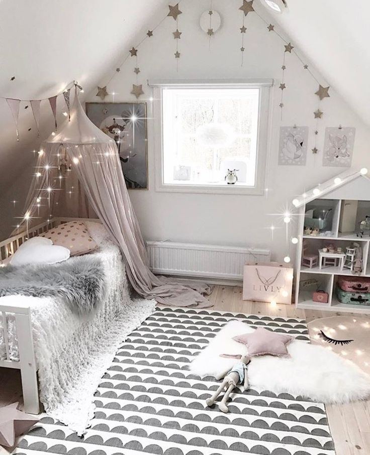 Neutral children's bedroom.