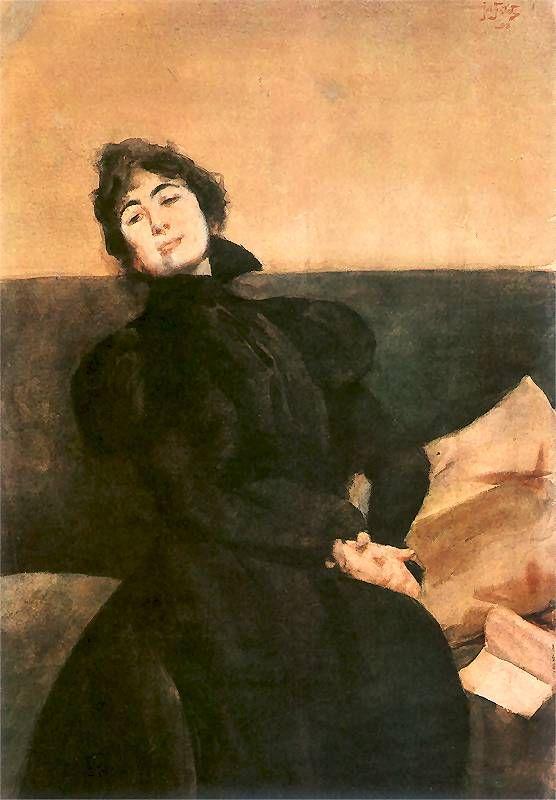 Portrait of Gabriela Zapolskaj 1898