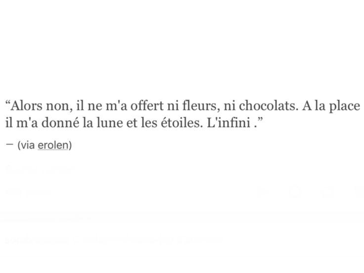 Entonces no, el no me ofreció ni flores ni chocolates, en vez de eso me dio la luna y las estrellas...el infinito. psT