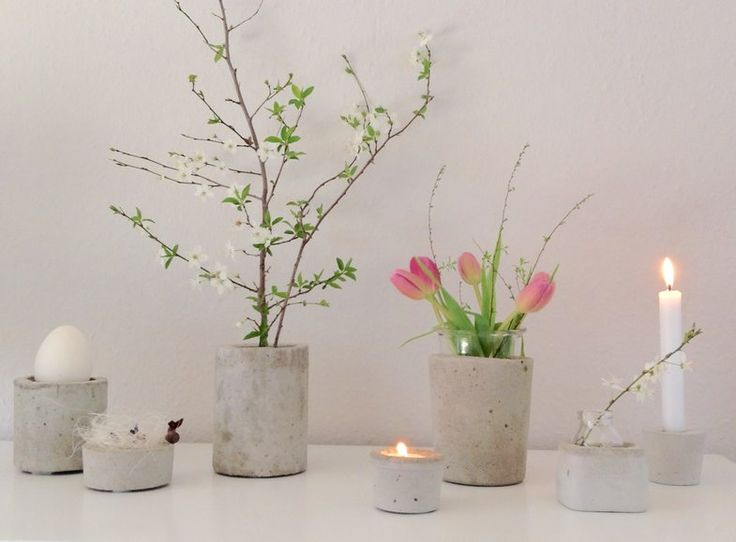 Wohnaccessoires aus beton  Die besten 25+ Selber machen mit beton Ideen auf Pinterest | Diy ...