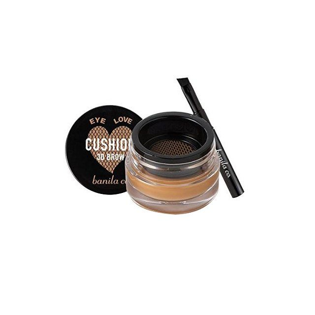 You'll find soft mesh netting at the top of the jar, which lets the perfect amount of innovative brow powder through to reach your brush. Banila Co Eye Love Cushion 3D Brow, $19 amazon.com