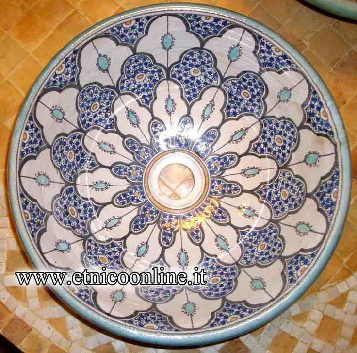 Lavabo marocchino (Mobili e Complementi, Arredo Bagno) di Artigianato Vulcano, eCommerce specializzato nella vendita di articoli etnici, marocchini e orientali.
