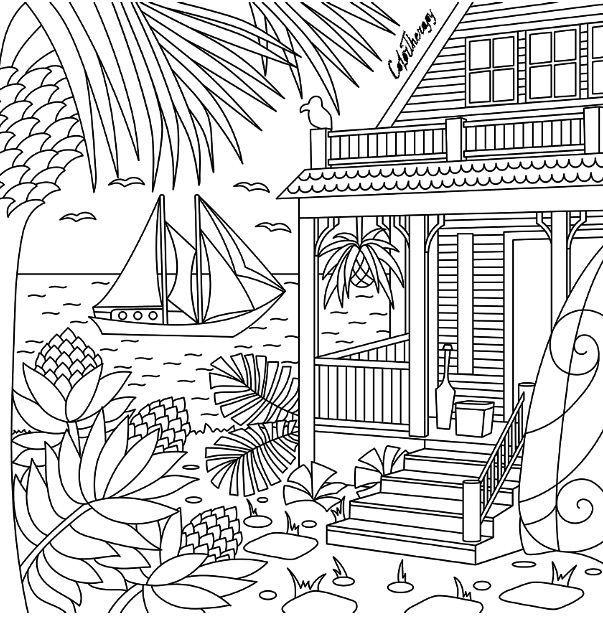 Au bord de la plage en 2020 | Mandala à colorier ...