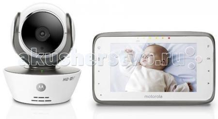 Motorola Видеоняня MBP854 Connect  — 14850р. -------------------  Видеоняня Motorola MBP854Connect дает Вам возможность использовать привычный родительский блок, обладающий великолепным цветным экраном 4,3 дюйма, и одновременно получать доступ к Вашей видеоняне удаленно через сеть Интернет.  Особенности: При использовании удаленного доступа Вы имеете возможность просматривать потоковое видео в формате HD 720p, сохранять фото и видеозаписи, получать уведомления и фотографии при срабатывании…