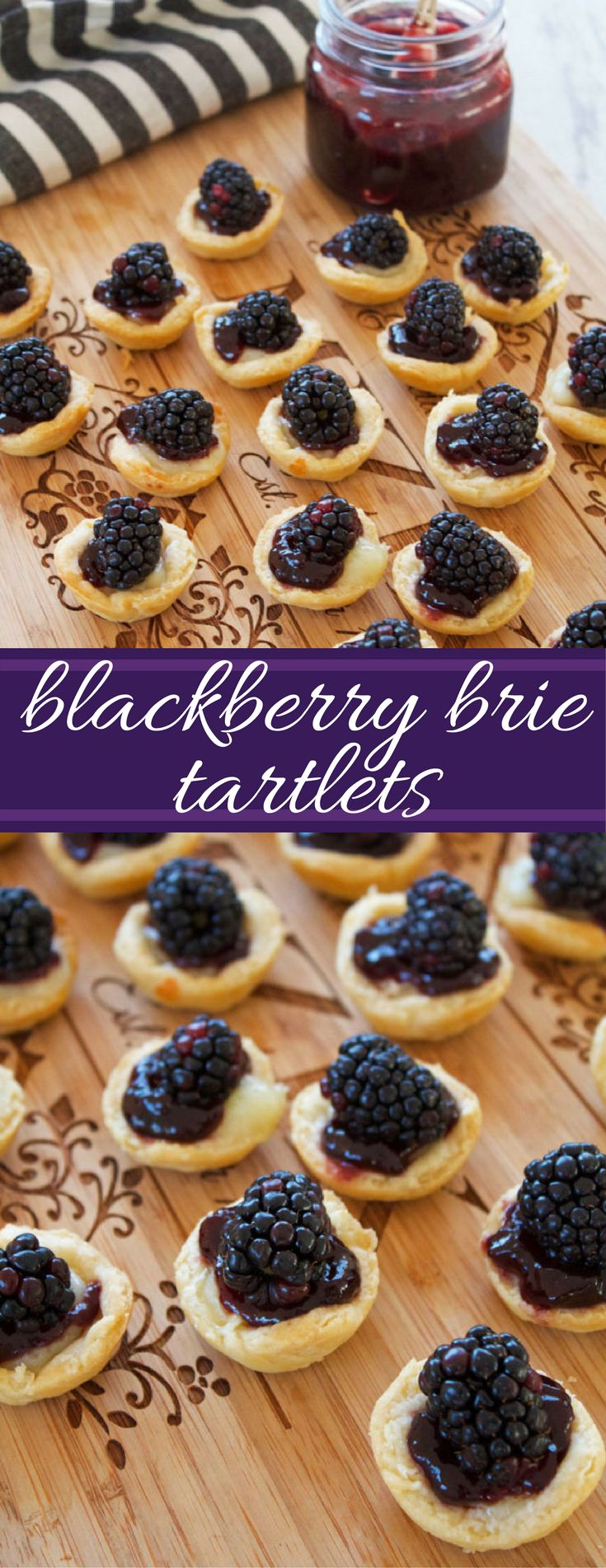 blackberry brie tartlets | appetizers | appetizer recipes | blackberries | brie cheese | tartlets | mini pies | mini tarts | Hors d'oeuvre | easy appetizer | 20 minute recipes | holiday appetizers