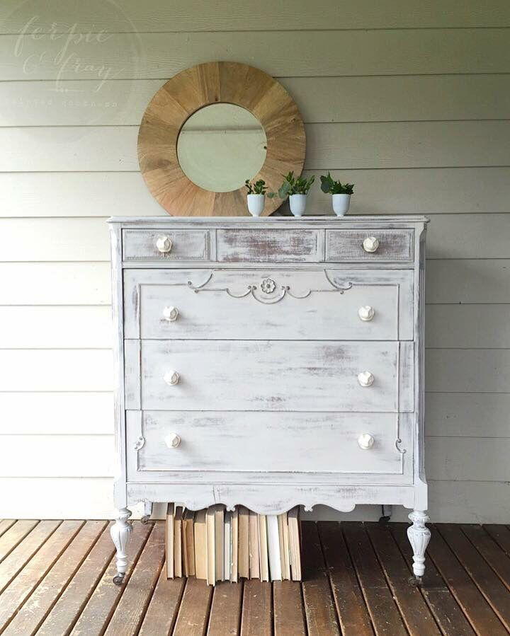 Dresser by Ferpie and Fray painted in Oyster Grey by Real Milk Paint Co.