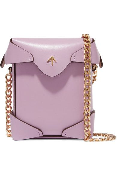 Purple leather (Calf) Magnetic-fastening top flap Weighs approximately 1.1lbs/ 0.5kg Imported