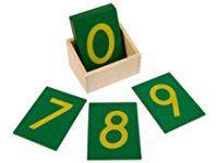 Montessori Sandpaper Numbers w/ Box