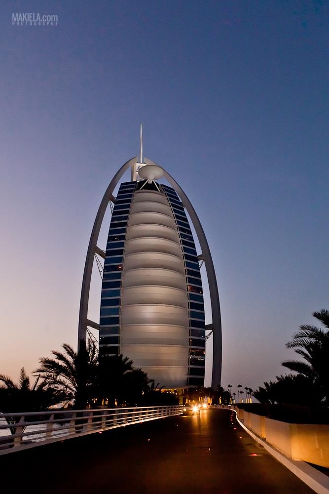 Night Road to Burj Al Arab Dubai  www.makiela.com