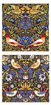 Set of 2 Bothy Threads - William Morris Designs cross stitch kits
