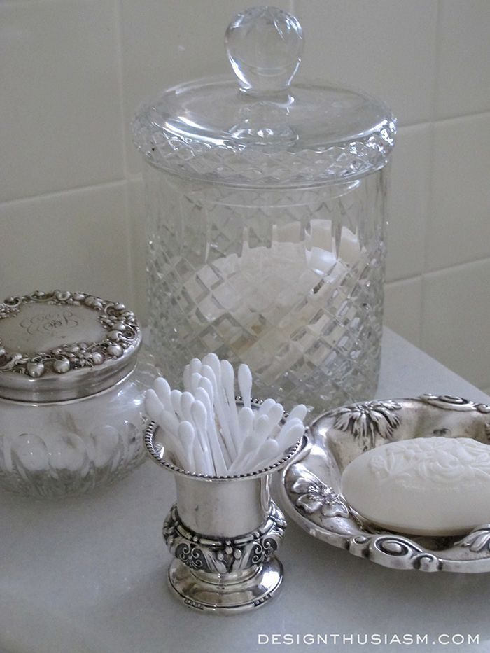 Shining the silver for the holidays   How to use the pieces you already own to add holiday glimmer to your home   #Designthusiasm