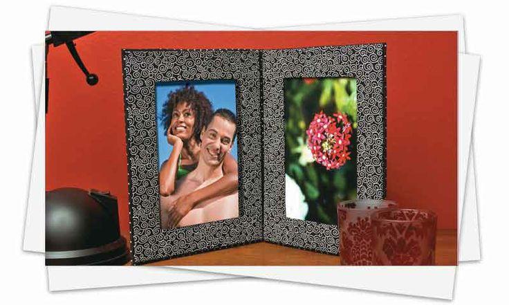 Como fazer porta-retrato: Parents, Cardboard, How, Learn