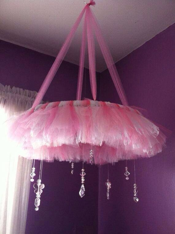 Wouldn't mind trying to do a DIY tulle mobile