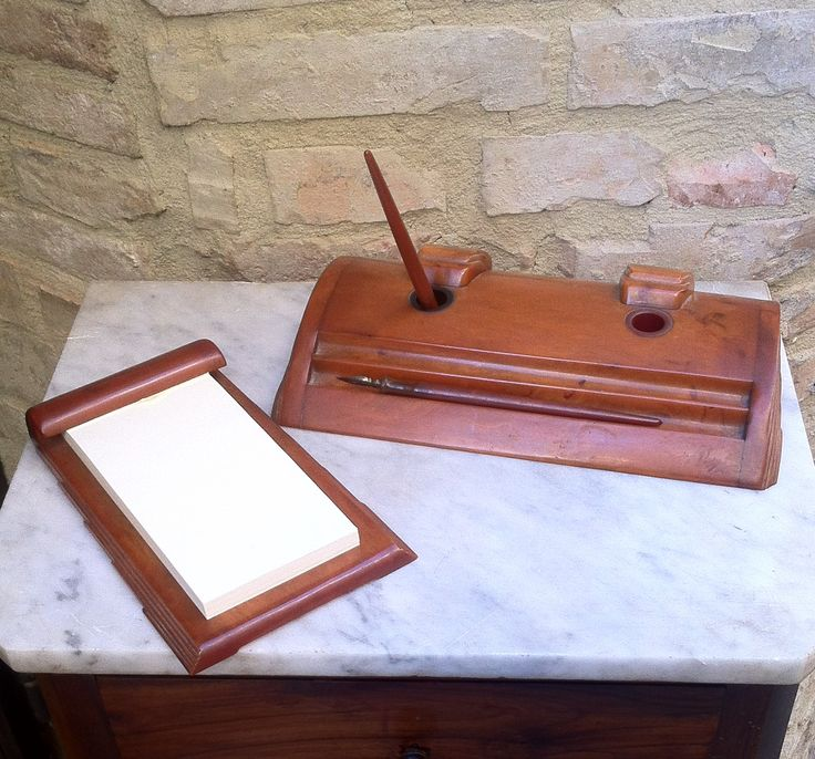 Set da scrivania anni '40 in bachelite desk set vintage, the 40s bakelite