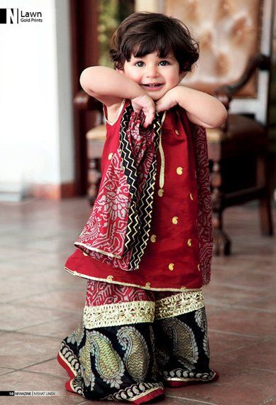 Kids Fancy dresses 2016 in Pakistan-mehroon   Style.Pk