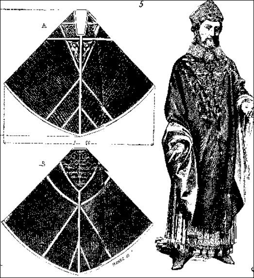 Chasuble cutting