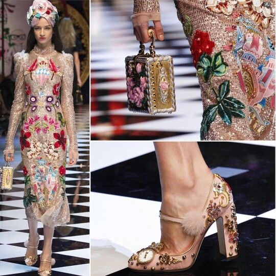 Dolce&Gabbana Fall-Winter 2016-17 #DGFabulousFantasy Women's Fashion Show. Stunning and Sparkling Accessories. Very Chic! More insights on @dolcegabbana and #dgfw17. Also follow @voguerunway and #MFW.