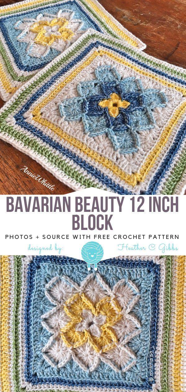 Floral Squares Free Crochet Patterns Granny Square Crochet
