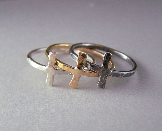 Sideways Cross RingGolden Cross Ring by MoodiChic on Etsy, $35.00