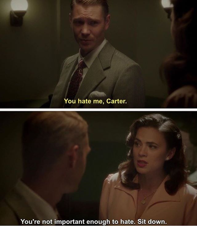 This is why I love Peggy. I say the same thing to people.