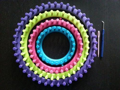 tricotin géant, droit, circulaire, tuto, snood, phildar, rapido, laine, bonnet, diy, point de riz, tricot, tricoter