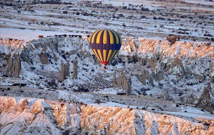 Sputnik Türkiye ///  Kapadokya'da sıcak hava balonları sert iniş yaptı: 49 yaralı