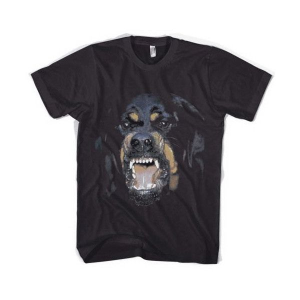 Givenchy Rottweiler Men Women Black T-Shirt Tee (22 CAD) ❤ liked on Polyvore featuring tops, t-shirts, shirts, tees, logo tees, pattern t shirt, givenchy t shirt, heat transfer t shirt and graphic tees