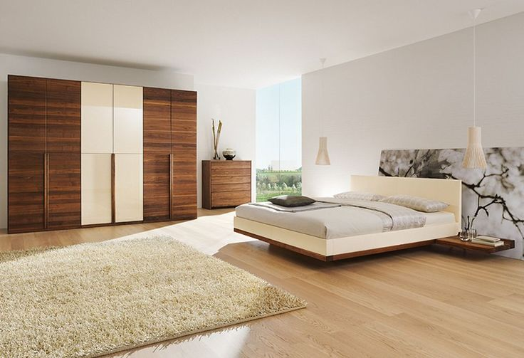 contemporary furniture | contemporary solid walnut bedroom furniture set