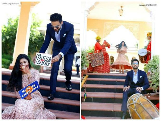 fun wedding pics-Indian pre wedding photography