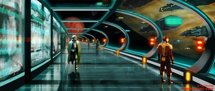 Pin spaceship interior concept art sci fi on pinterest for 11553 sunshine terrace
