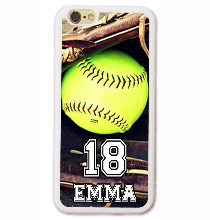 PERSONALIZED NAME NUMBER SOFTBALL PHONE CASE COVER FOR IPHONE 7 6 6S PLUS SE 5S #UnbrandedGeneric