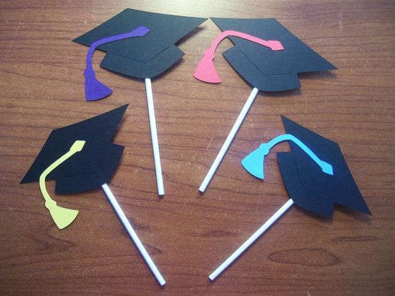 Set of 48 Cupcake Toppers  Graduation Cupcake by CardsbyLexiRose, $24.00