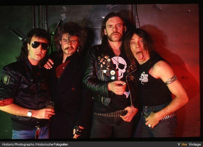 Phil Campbell & Philthy Animal Taylor & Lemmy Kilmister & Wurzel. MOTORHEAD