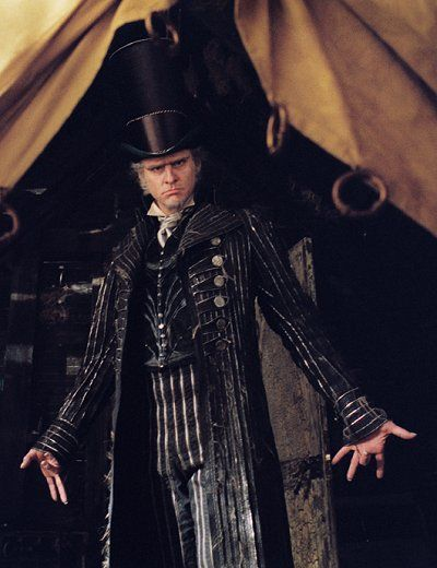 Jim Carry.... Lemony Snicket's A Series of Unfortunate Events - Count Olaf's suit  Designed by Colleen Atwood.