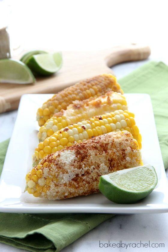 Corn on the Cob: Four Ways: Cinnamon & Sugar, Mexican, Cheddar & Bacon, Sea Salt & Red Pepper.