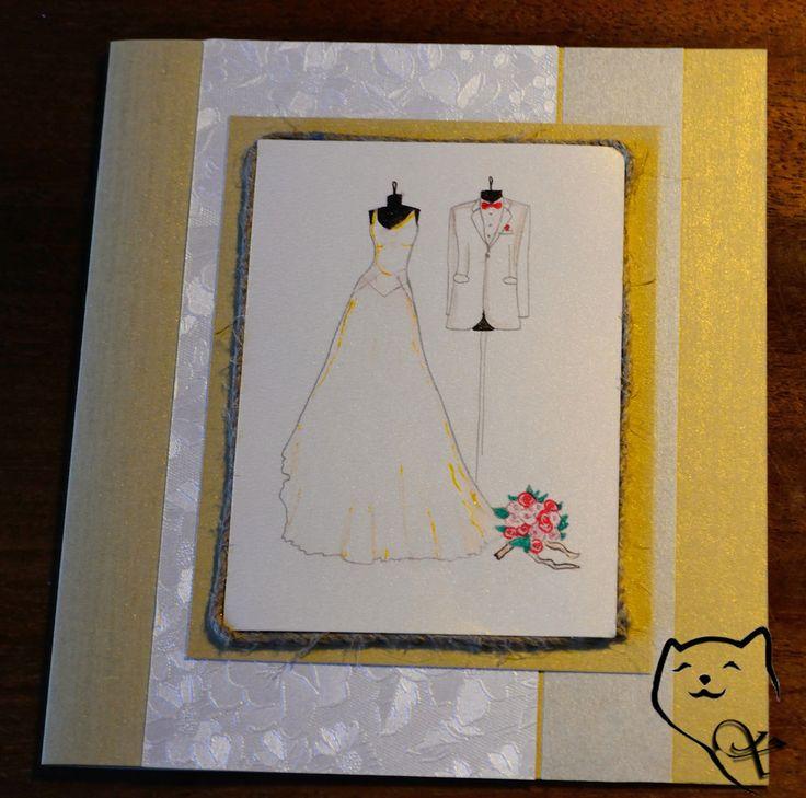 Rankų darbo atvirukas vestuvių proga. Handmade wedding card. kamelija27@gmail.com