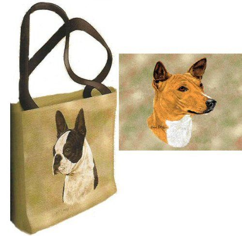 Basenji Tote Bag by Pure Country Weavers. $31.95. Woven, ensuring long life with little to no product degradation. 100% cotton, a soft natural fiber. 17 x 17 inches. Basenji Tote Bag, 17 x 17 inches. 100% cotton, a soft natural fiber. Machine washable in a gentle cycle, only slight shrinkage because it is washed once at the time of production. Woven, ensuring long life with little to no product degradation.