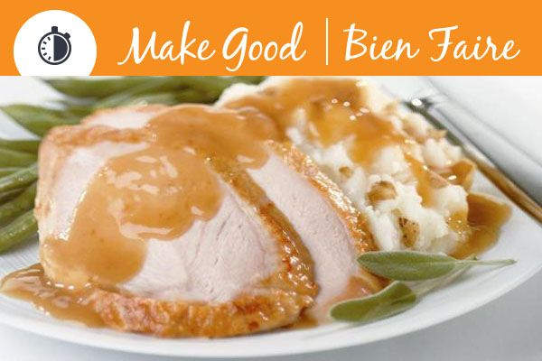 Searching for the perfect Thanksgiving gravy? Try this Guilt Free Gravy, the best part is that it takes less than 30 minutes! #MakeGoodinUnder30 #thanksgiving #glutenfree #gravy #dinner #recipe