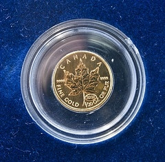 Canadian Maple Leaf Gold coins for sale. Great Investment.  Buy gold now before gold prices rises again