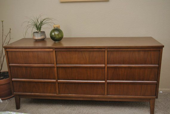 Dixie Furniture 9 Drawer Mid Century Modern Dresser Via Etsy Bedroom Pinterest Modern