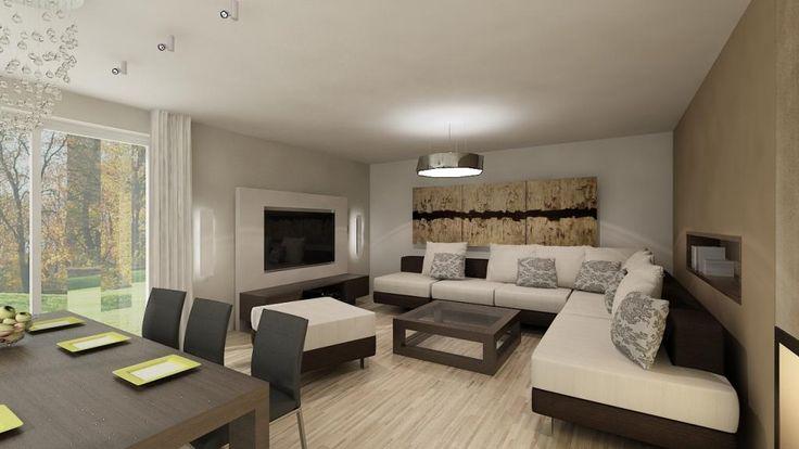 OBÝVACÍ POKOJ <br /><br />- otevřené společenské prostory tvoří obývací pokoj, jídelna a kuchyně