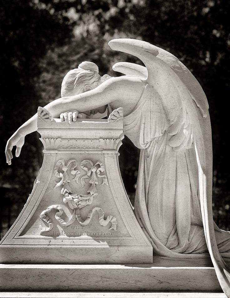 """Sanford Angel"" – Angel at Grave Site for Leland Stanford Jr. on Stanford University campus."