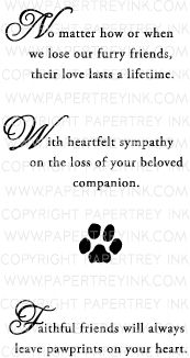 With Sympathy: Loss of a Pet Mini Stamp Set ----> FOR MY LIL BEBE MONI!!