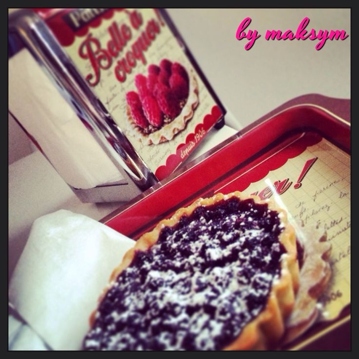 Tarte aux myrtilles... Blueberry pie