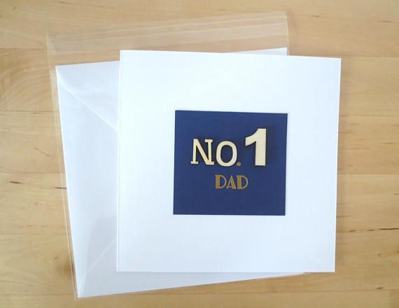 No. 1 Dad Card Fathers day card father's day Happy