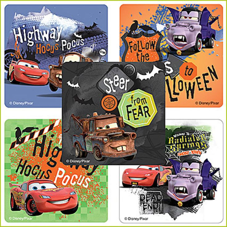 Cars Halloween Stickers x 5 - Trick or Treat - Halloween Supplies - Cars Sticker