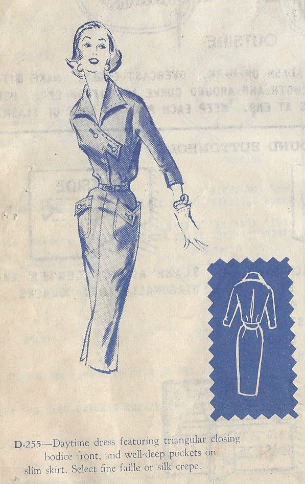 1950s Jahre Vintage Nähen Muster B38 \