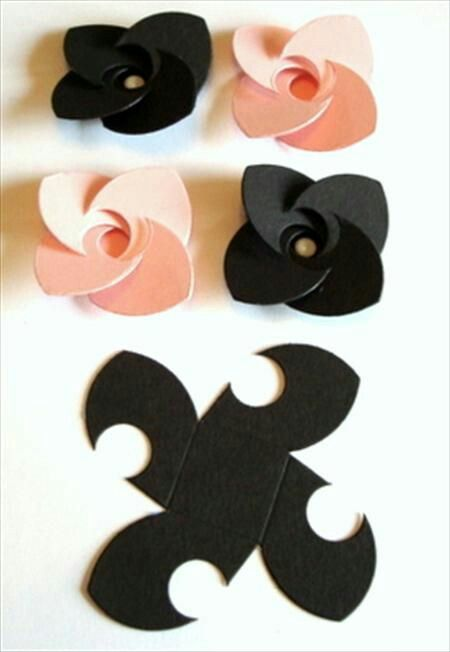 Laser-cut leather flower